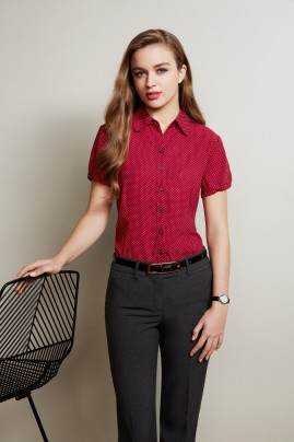 Ruby Spot Print Short Sleeve Blouse