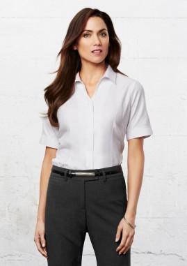 Ladies Preston Easy Care Polycotton Short Sleeve Shirt