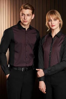 Ladies Reno Cotton-Rich Panel Long Sleeve Shirt