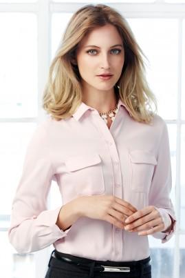 Ladies Madison Mechanical Stretch Polyester, Long Sleeve Shirt