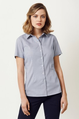 Ladies Short Sleeve Cotton-Rich Jagger Shirt