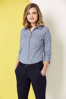 Ladies 3/4 Sleeve Cotton-Rich Jagger Shirt