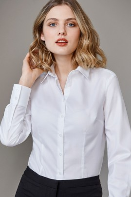 Ladies Long Sleeve Regent Shirt 100% Cotton