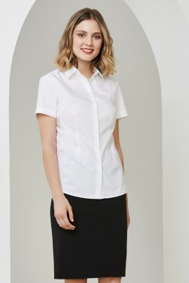 Ladies Short Sleeve Regent Shirt 100% Cotton