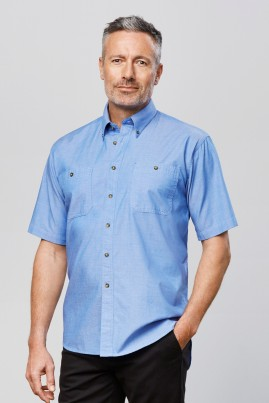 Mens Short Sleeve Chambray Shirt
