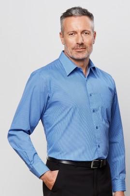 Mens Long Sleeve Micro Check Shirt