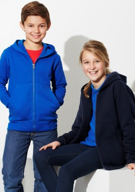 Kids Crew Active Wear Full Zip Hoodie Polyester/Cotton