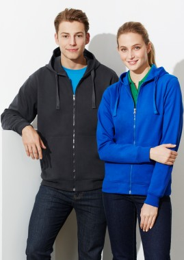 Mens Crew Full Zip Polyester/Cotton Hoodie Jacket
