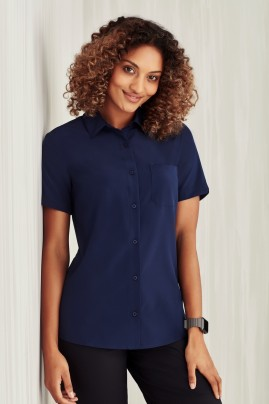 BIZcare Women's Short Sleeve Stretch Shirt