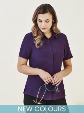 BIZcare Women's Short Sleeve Stretch Shirt