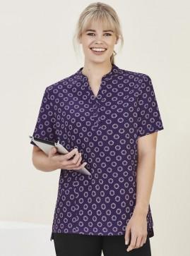 BIZcare Women's Easy Stretch Medical Tunic Top - Daisy Print