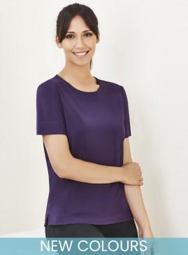 BIZcare Women's Short Sleeve T-Top Easy Stretch