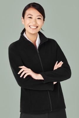 Ladies Plain Zip Microfleece Jacket