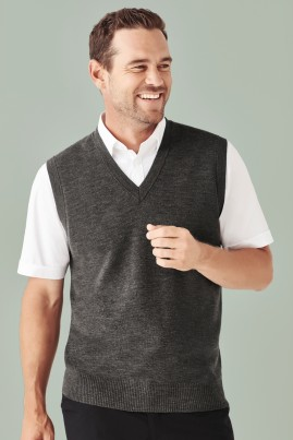 Men's  Milano Machine Washable 50% Wool Vest