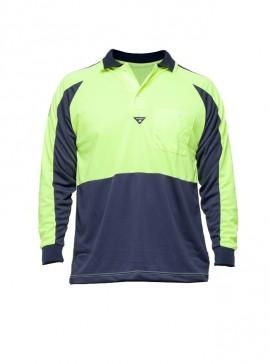 Hi Vis Long Sleeve PRP Polo Shirt