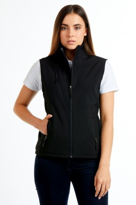 Ladies PRO2 Softshell Vest - Black