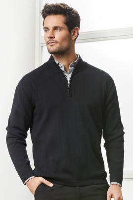 Mens 1/2 Zip Wool-Rich Merino Pullover