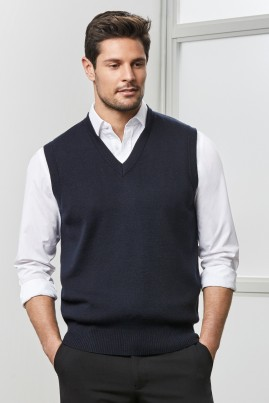 Mens Wool Mix V-Neck Vest
