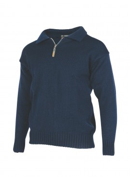Original Zip and Collar Work Sweater