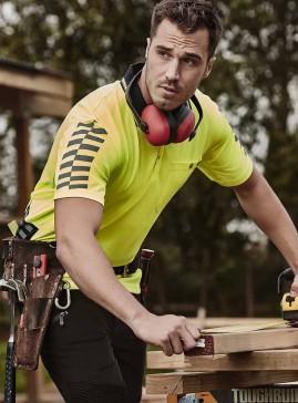 Men's Komodo Short Sleeve Hi Vis Compliant Work Polo