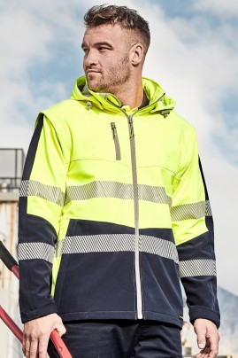 2 in 1 Stretch Softshell Segmented Taped Jacket