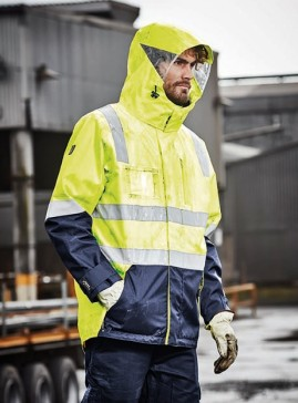 SYZMIK  Hi Vis 4 in 1 Waterproof Jacket - Vest zips in/out
