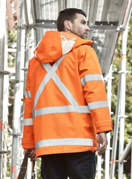 Mens TTMC-W17 Hi Vis X Back 4 In 1 Waterproof Jacket