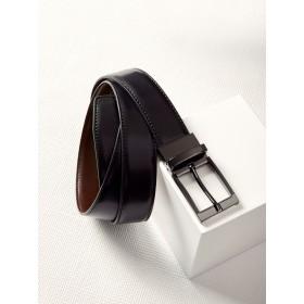 Mens Leather Reversible Belt