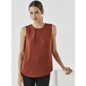 Women's Estelle Sleeveless Pleat Detail Blouse