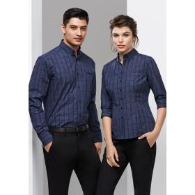 Mens Harper Long Sleeve Check Business Shirt
