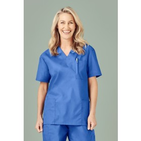 Ladies BIZcare Polycotton Medical Scrubs Top
