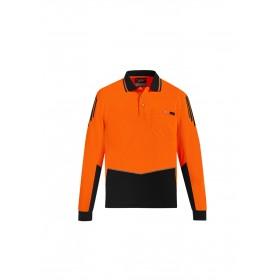 Men's Hi Vis Flux Quick Dry Long Sleeve Polo