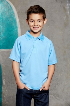 Kids Sprint BIZCOOL Mesh Polo Shirt