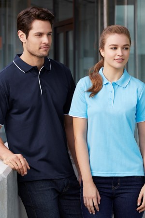 Ladies Elite Self Check Polo